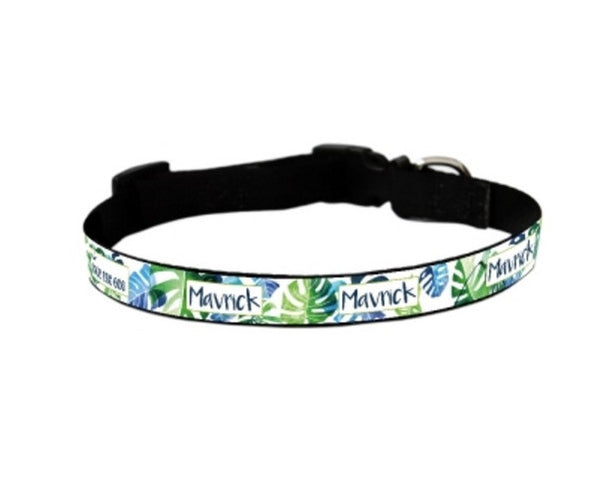Tropical Personalized Pet Collar