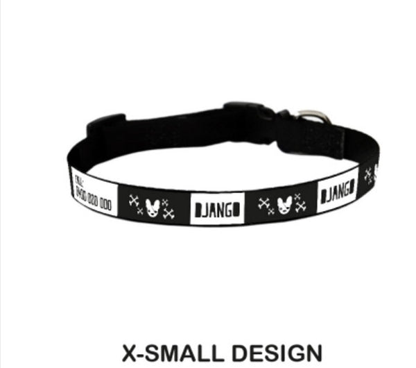 Skull Personalized Pet Collar