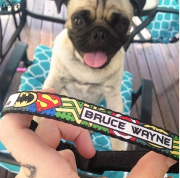 Superheroes Personalized Pet Collar