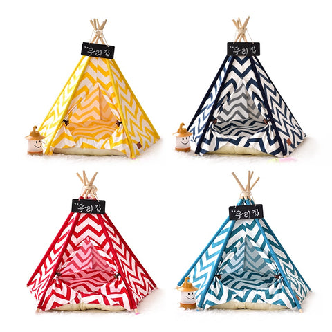 Chevron Pet Teepee