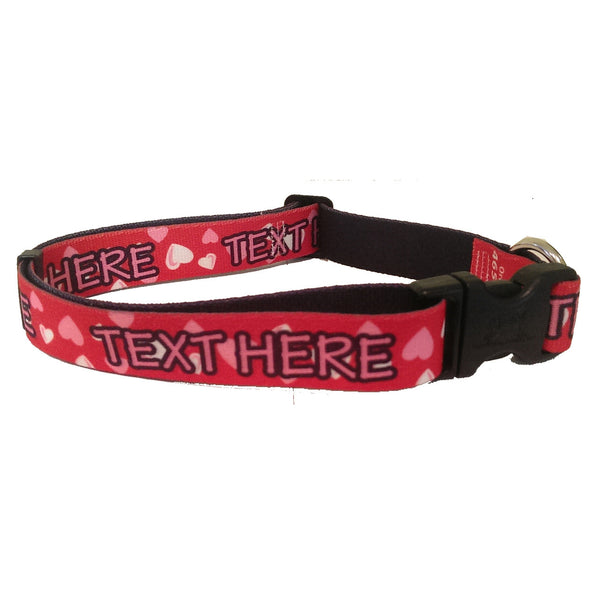 Valentine Personalized Dog Collar