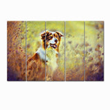 WallMantra Canvas Painting Brittany Spaniel Dog Canvas Wall Painting