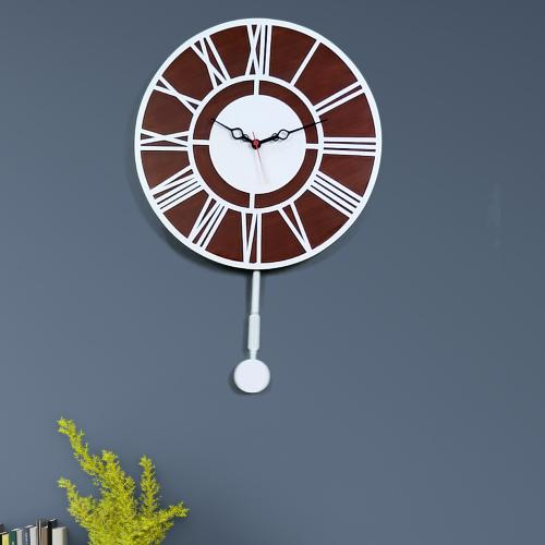 WallMantra - Roman Number Dual Layer Decorative Pendulum Wall Clock