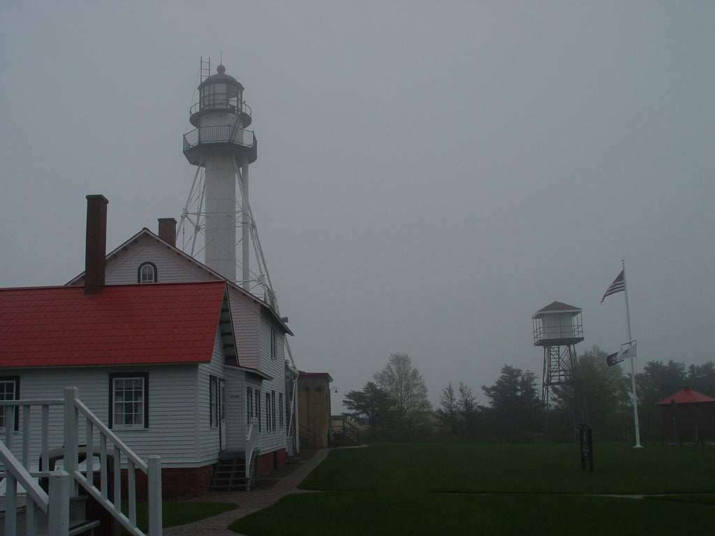 Whitefish Point Light and Museum in the Fog