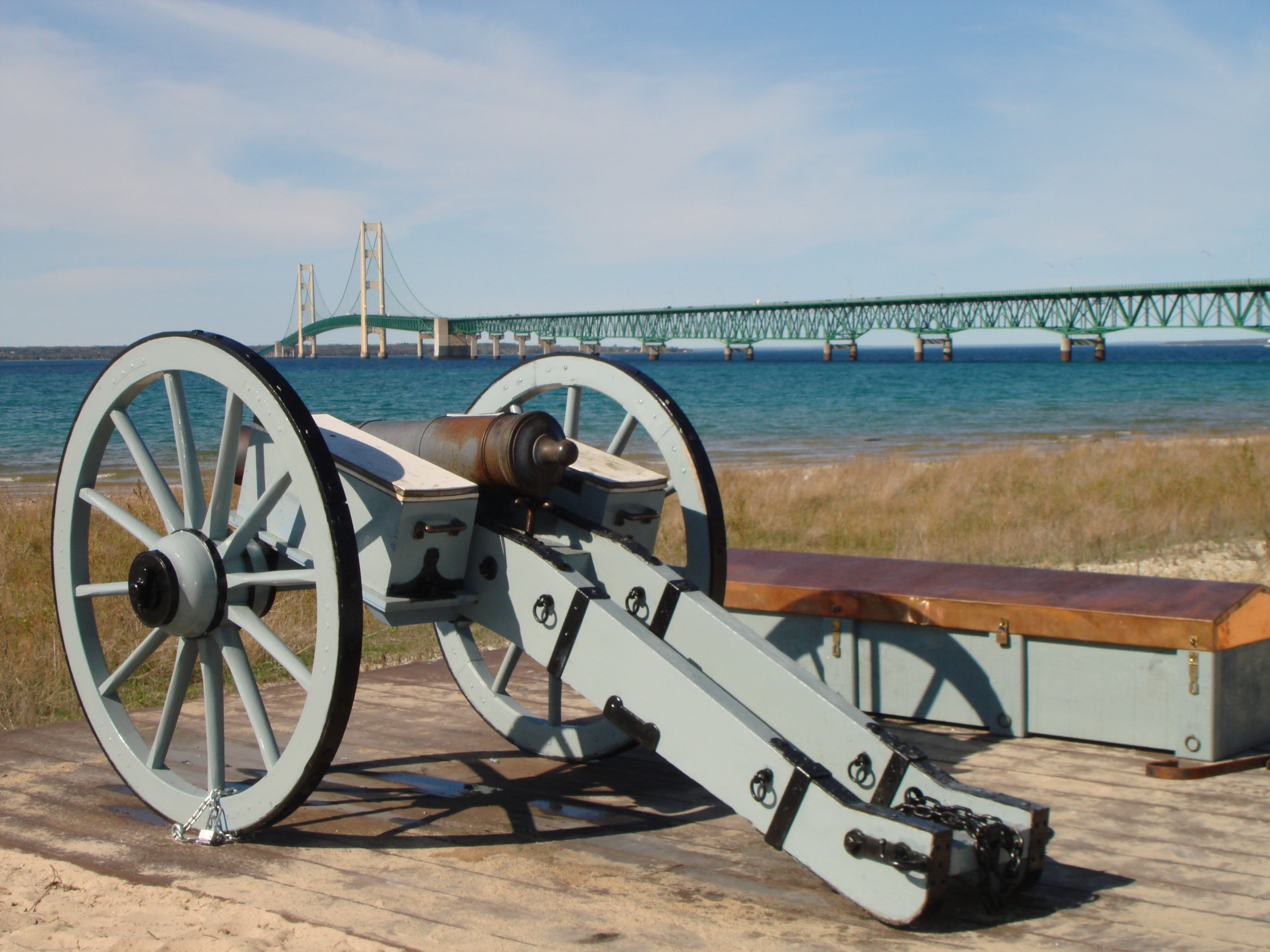 Cannon Overlooking the Straits of Mackinac