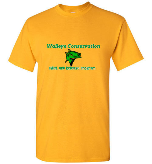 Walleye Fillet and Release Tshirt