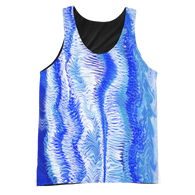 Seafoam Blue Graphic Tank Top