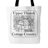 Upper Thumb Cottage Country Tote Bag