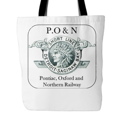 Pontiac, Oxford & Northern Railway Tote Bag