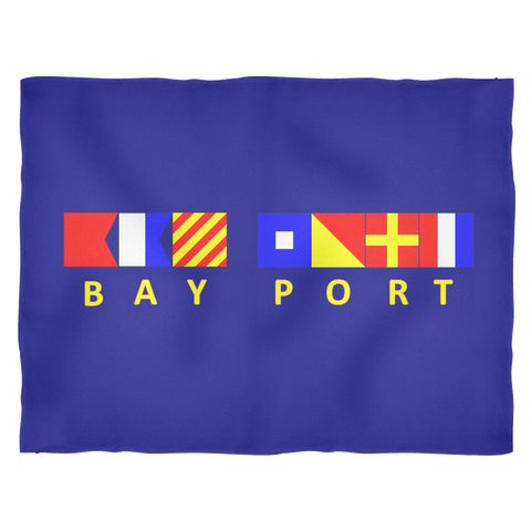 Bay Port Michigan Fleece Blanket