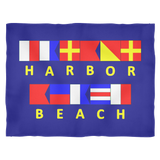 Harbor Beach Michigan Fleece Blanket