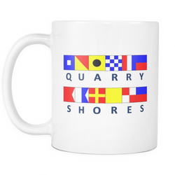 Quarry Shores Michigan Nautical Coffee Mug
