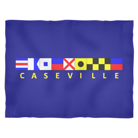 Caseville Michigan Fleece Blanket - Small Navy