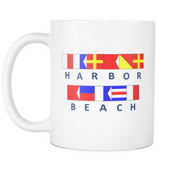 Harbor Beach Michigan Nautical Coffee Mug