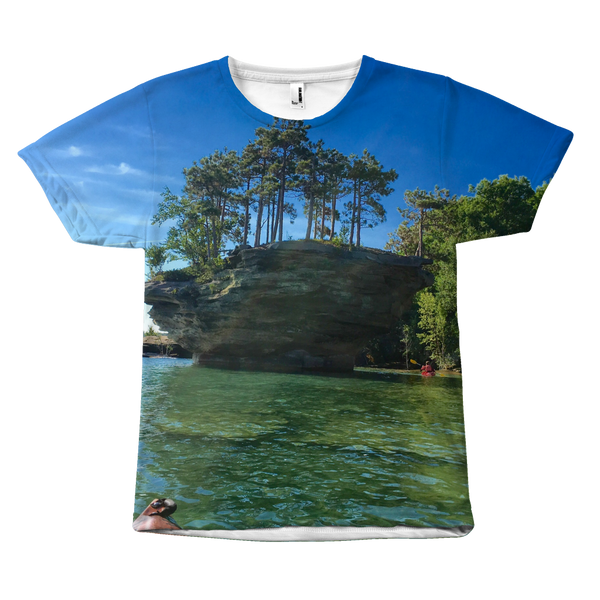 Turnip Rock Photo Wrap Around Tshirt