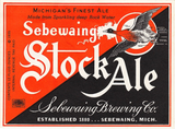 Sebewaing Brewery Stock Ale Label
