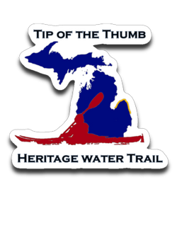 Tip of the Thumb Heritage Water Trail Decal - Thumbwind  Mercantile