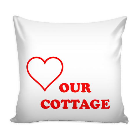 Love Our Cottage Pillow Cover - White