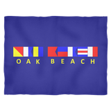 Oak Beach Michigan Fleece Blanket