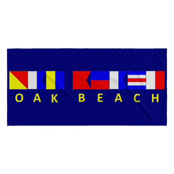 Oak Beach Michigan Towel - Navy