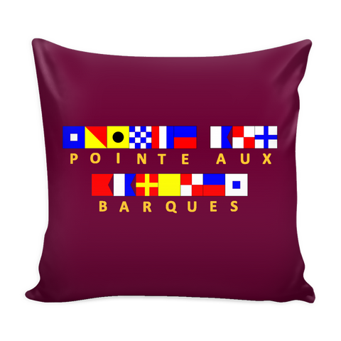 Pointe Aux Barques Pillow Cover - (In CMU Maroon)