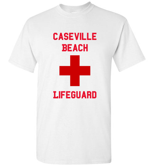 White Tee Caseville Beach Lifeguard