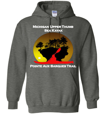 Pointe Aux Barques Sea Kayak Trail Grey Hoodie