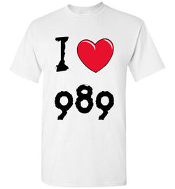 I love Area Code 989 White Tee