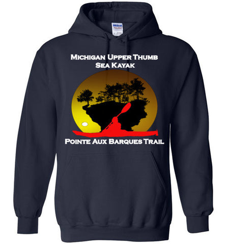 Pointe Aux Barques Sea Kayak Trail Navy Hoodie