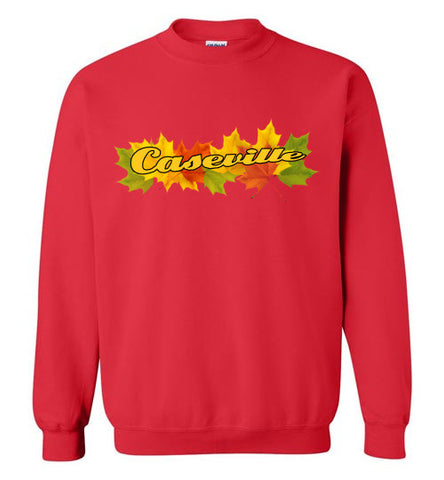 Caseville Fall Color Sweatshirt in Vibrant Red