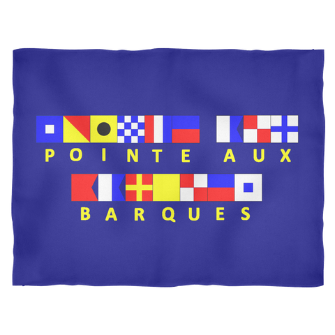 Pointe Aux Barques Michigan Fleece Blanket