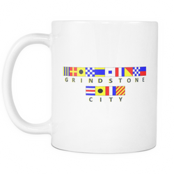 Grindstone City Michigan Nautical Coffee Mug - $12
