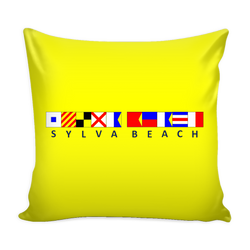 Sylva Beach Nautical Pillow Cover - Yellow