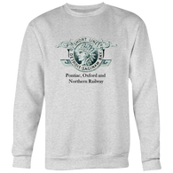 Pontiac, Oxford & Northern Railway Crew Sweatshirt - $32
