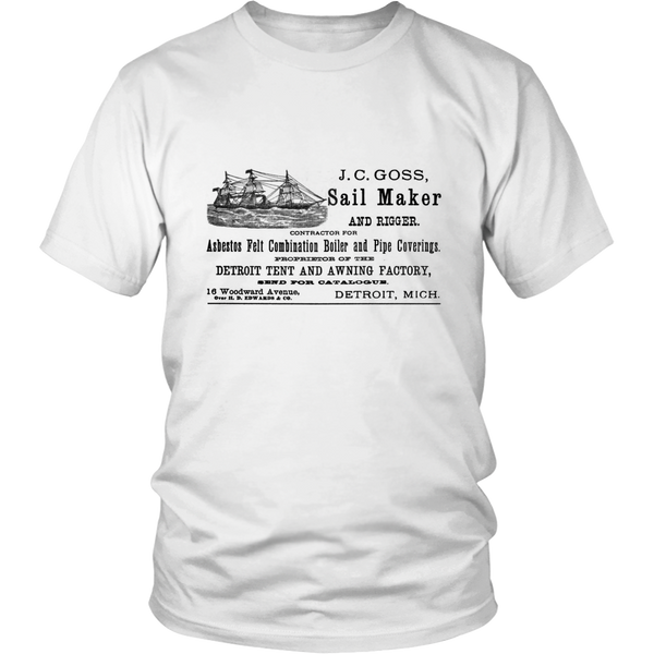 J.C Goss Sail Maker and Rigger - 1900 Vintage T-Shirt