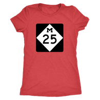 M-25 Shoreline Drive Ladies Tshirt $20