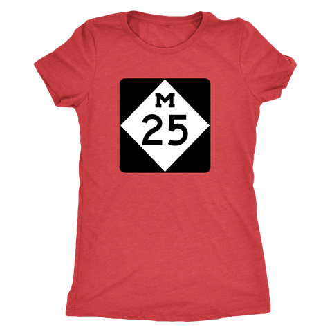 M-25 Shoreline Drive Ladies Tshirt