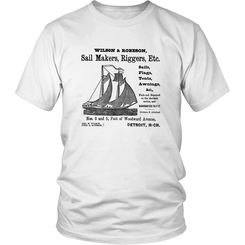 Wilson and Robeson Sail Makers 1900 Detroit Michigan