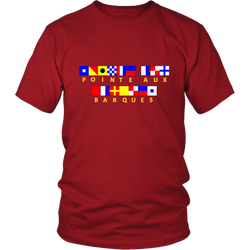 Pointe Aux Barques Nautical Flag - Unisex Tshirt