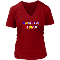 Pointe Aux Barques Nautical Flag - Woman's Vneck
