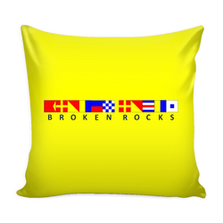 Broken Rocks Michigan Pillow Cover - Yellow