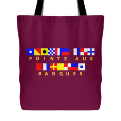 Pointe Aux Barques Tote Bag - (In CMU Maroon)