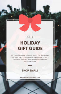 2018 Holiday Gift Guide Mattie and Mase. Shop mattieandmase.com
