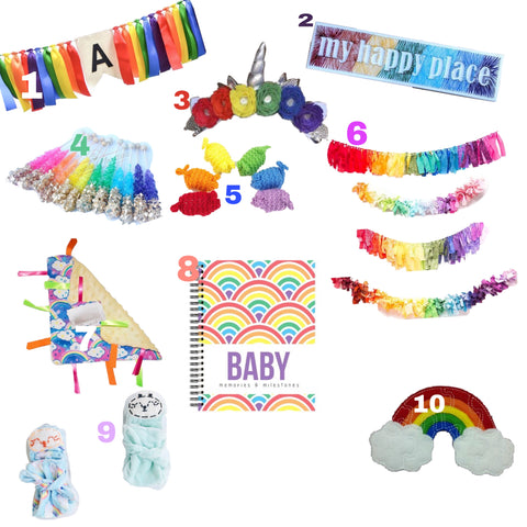 Rainbow Baby shower gift ideas