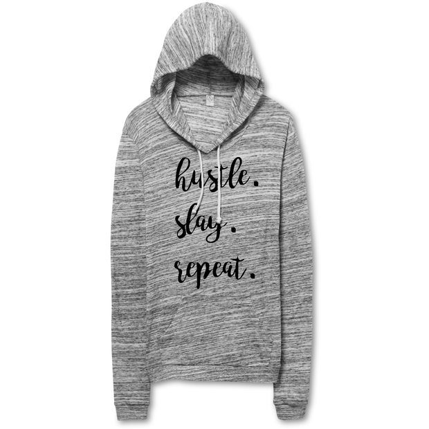 Hustle Slay Repeat Pullover Hoodie - Mattie and Mase