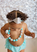 Large Silver Bow Headband and Necklace Set - Mattie and Mase