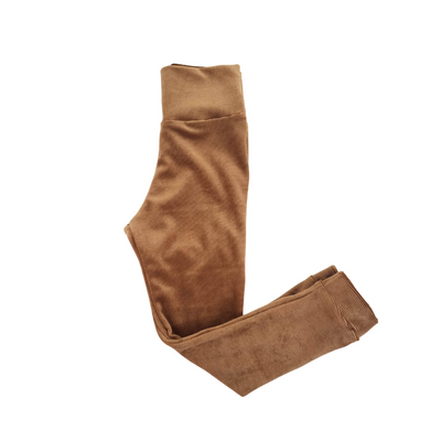 Camel Ribbed Kids Leggings