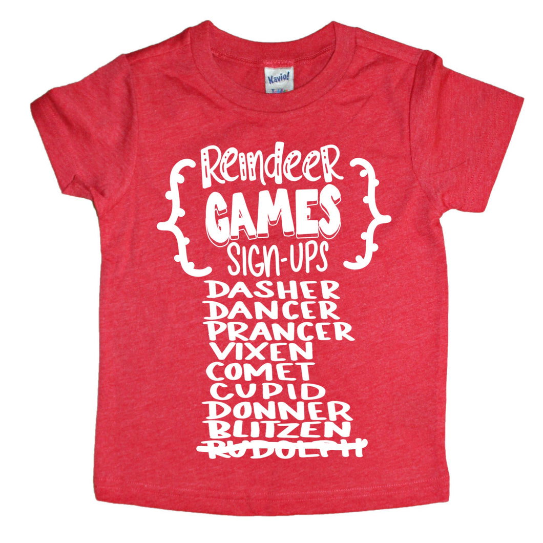 Reindeer Games Kids Tee
