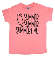 Flamingo pink summer summer summertime tee for toddlers. Shop mattieandmase.com