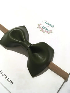Vegan Leather Bow - Mattie and Mase